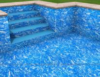 Wizualizacja - basen z membraną w wersji Marble classic.